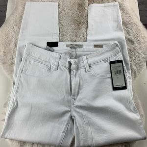 Mavi Adriana White Ankle Jeans
